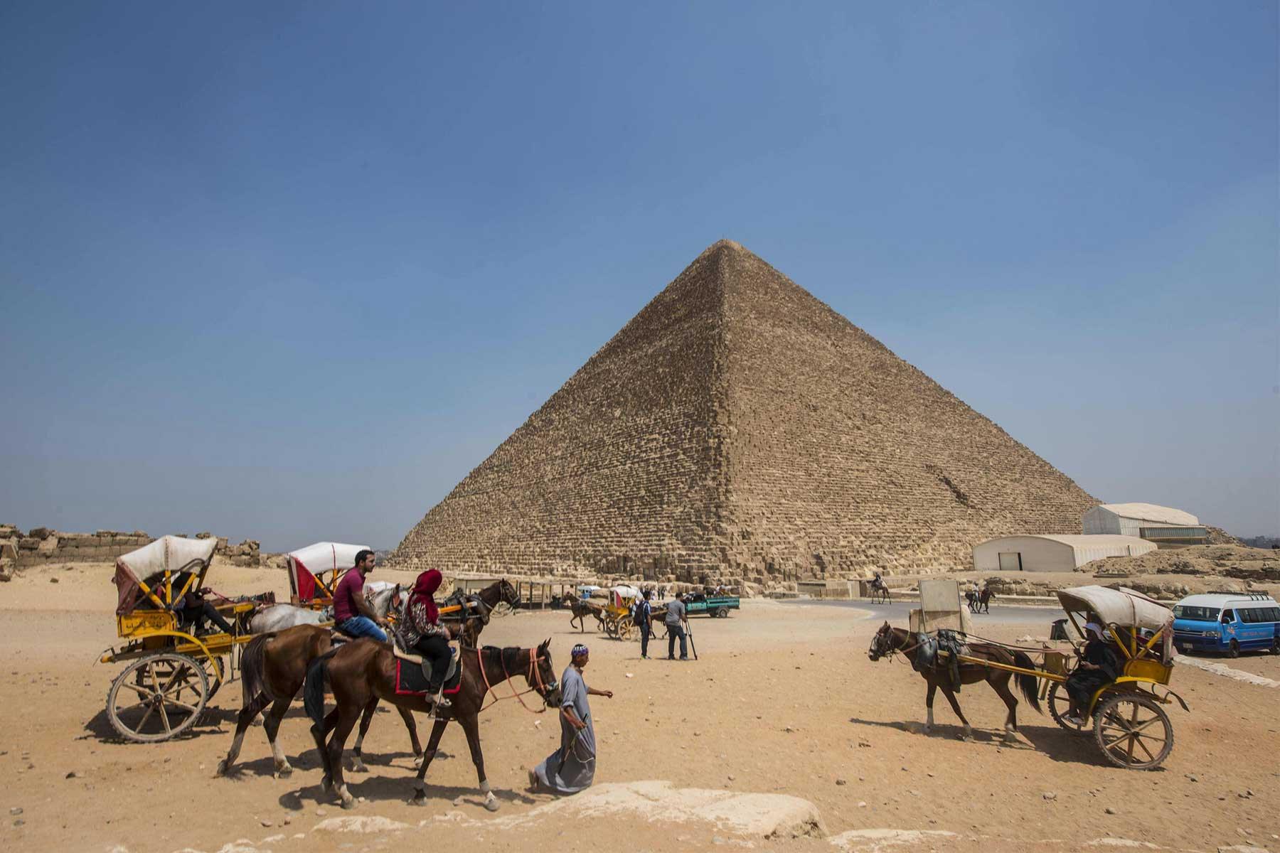 Pyramid complex at Giza